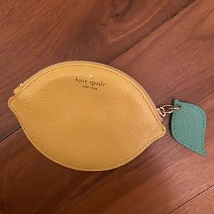 Kate spade lemon coin purse